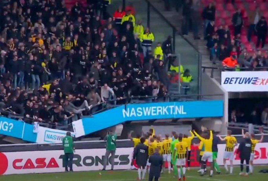 Κατέρρευσε κερκίδα γεμάτη οπαδούς σε γήπεδο της Ολλανδίας (βίντεο)
